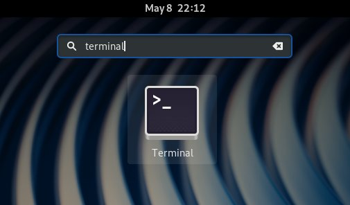 Step-by-step Driver HP Laser 135 Fedora Installation - open terminal