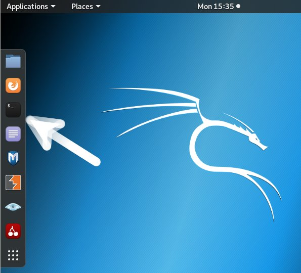 Step-by-step Driver HP Laser 135 Kali Linux Installation - open terminal