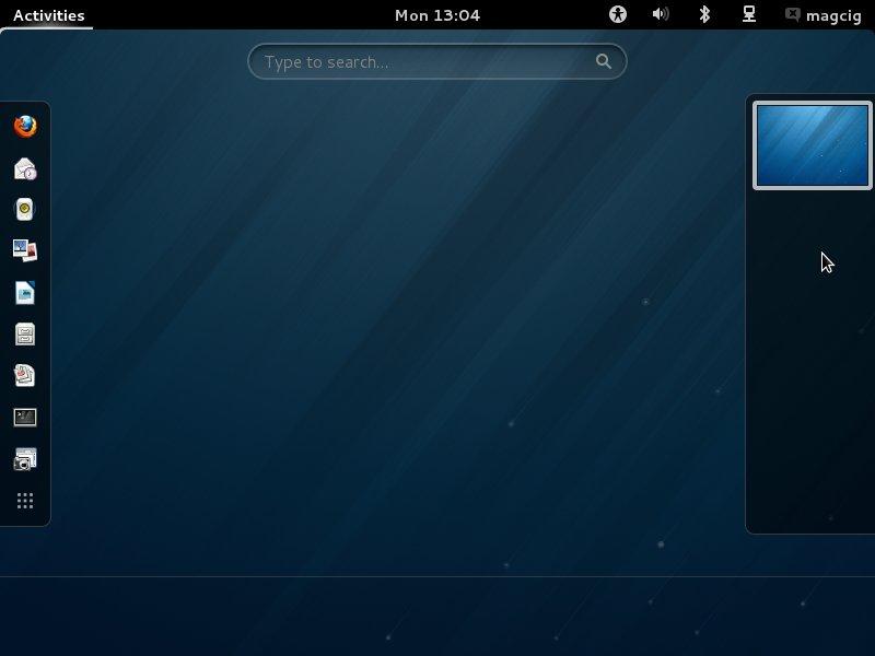 Fedora Linux 18 Gnome3 Desktop - 2
