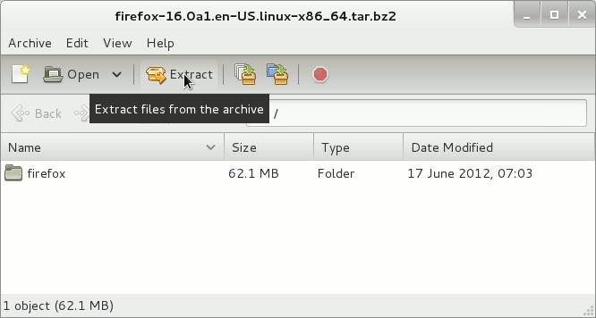 Linux Gnome Desktop Extract Firefox x8664 64bit