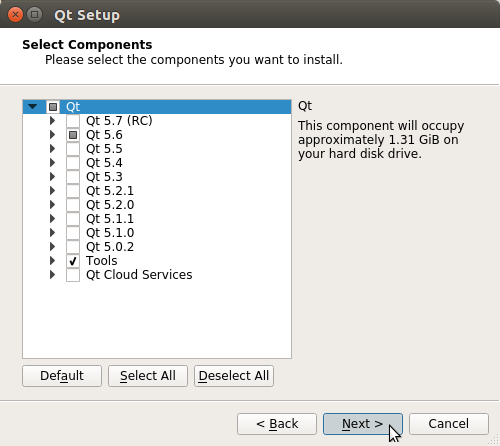 How to Install QT5 and Qt Creator on PCLinuxOS - select components