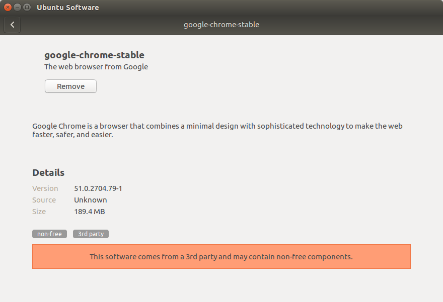 Install Google-Chrome on Ubuntu 18.10 by Ubuntu Software Install