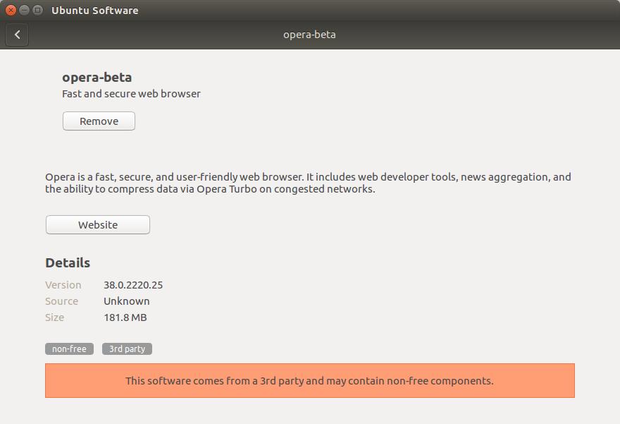 How to Install Opera Ubuntu 16.04 Xenial - Done