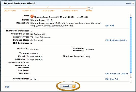 Amazon AWS EC2 Creating Instance - Booting Up the Ubuntu Linux Quantal Virtual Server