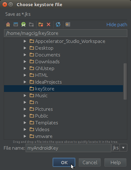 Android Studio Configuring Key and Key Store
