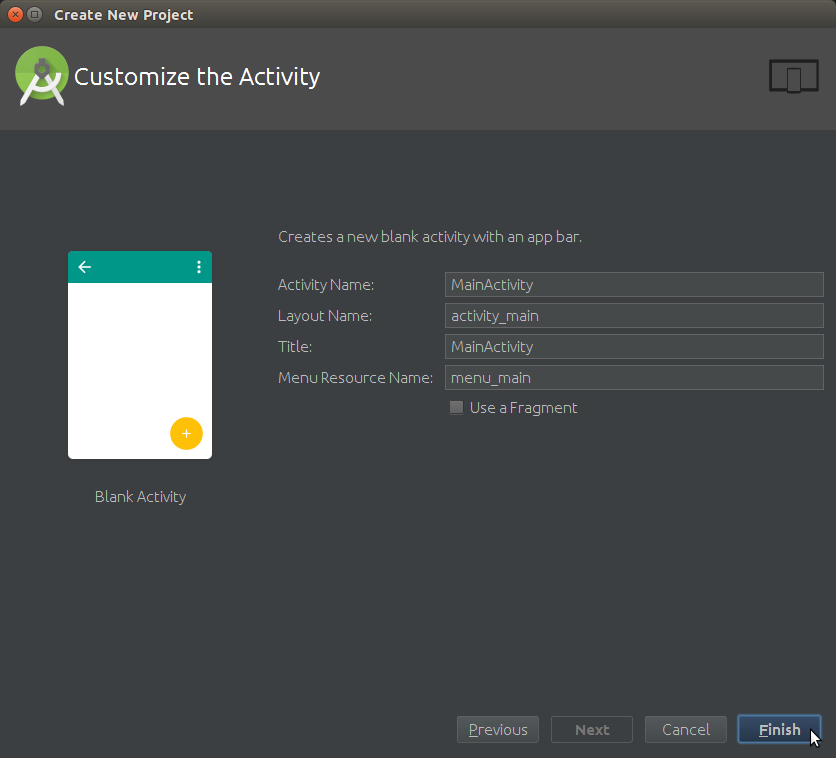 Android Studio How to Create a New Android Project - Customize the Android Activity