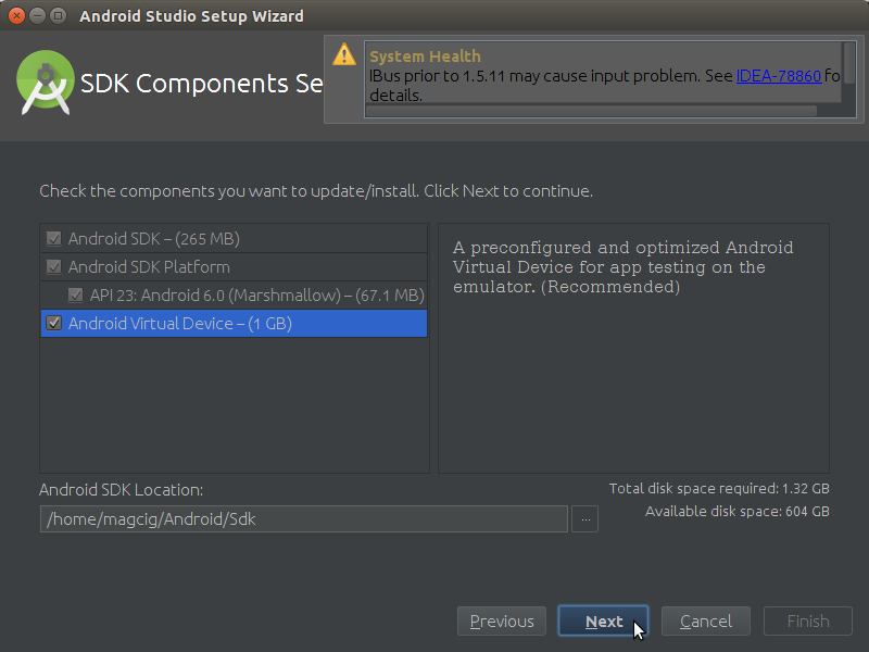 How to Properly Make the First, SetUp on Android Studio IDE for Linux - Android Virtual Device