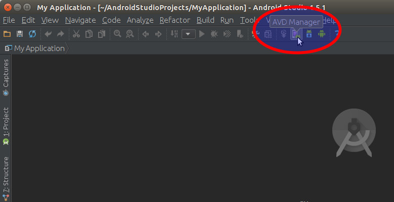 Running Android AVD Manager on Android Studio IDE