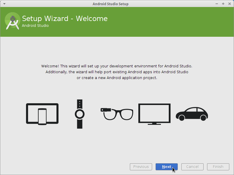 Getting-Started with Android Studio App Development on Ubuntu Linux - Config Wizard