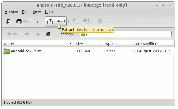 Install Android SDK Tools Only openSUSE Tumbleweed - Extract Android SDK