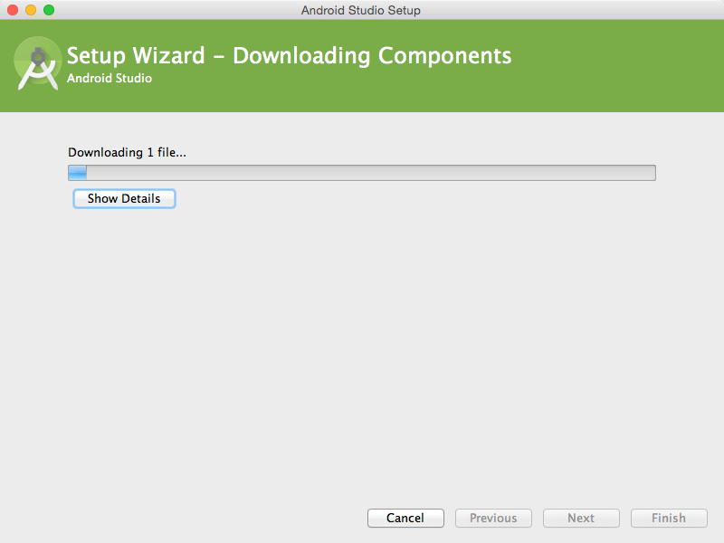 Android Studio IDE Quick Start for Mac OS X - download install components