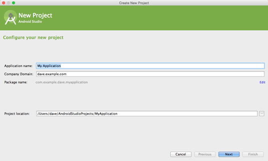 Android App Hello World on Android Studio IDE for Mac OS X - Configuring Android Project