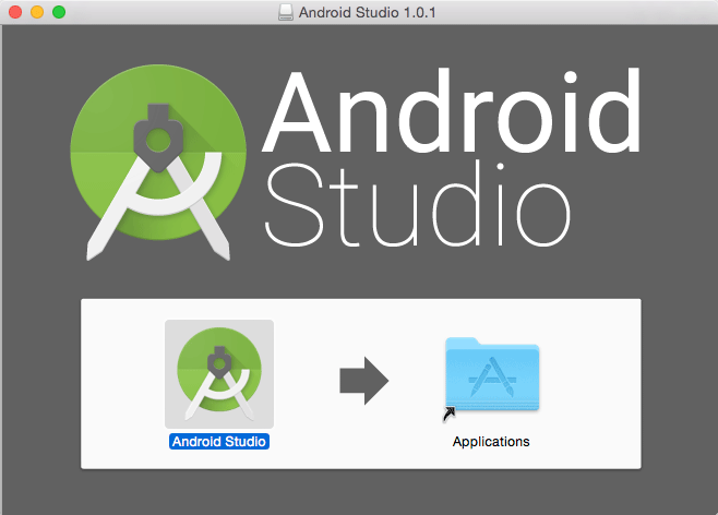 Android Studio IDE Quick Start for Mac OS X 10.10 Yosemite - Drang and Drop into Applications