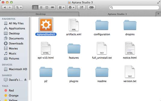 Install Aptana Studio 3 on Mac OS X 10.10 Yosemite - Run Aptana Studio 3