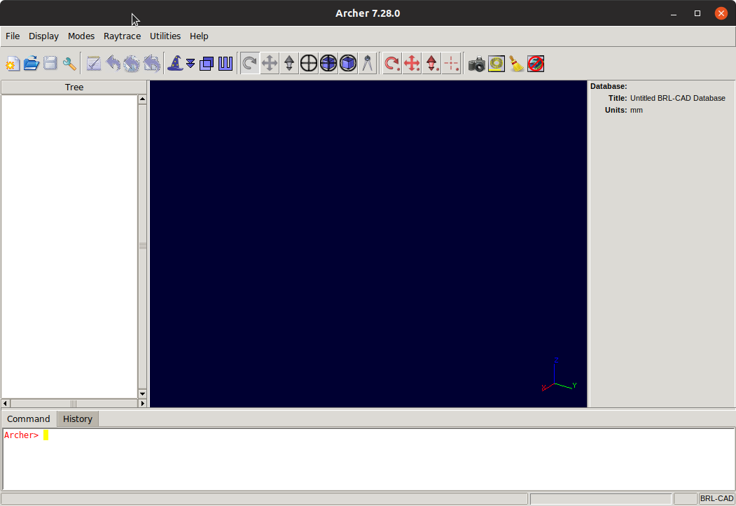 BRL-CAD GUI Getting Started Guide for GNU/Linux Systems - GUI