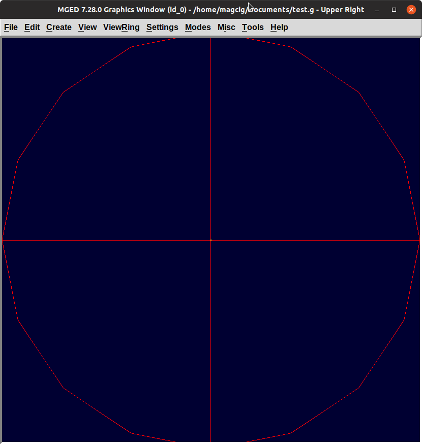 BRL-CAD Getting Started Guide for GNU/Linux Systems - Displaying Sphere