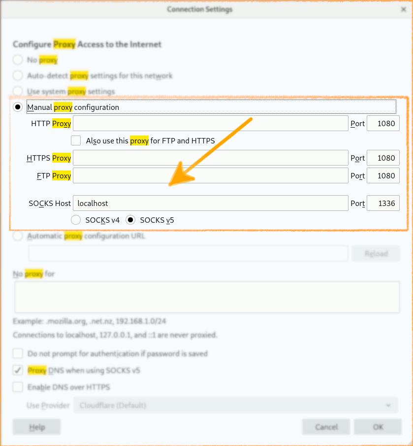 - Firefox SOCKS5 Manual Configuration