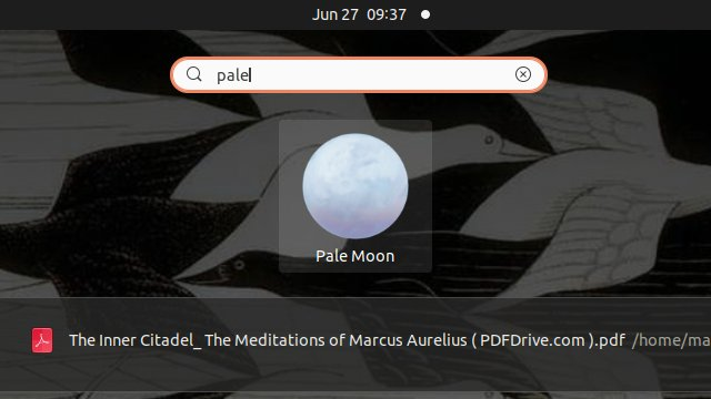 Pale Moon openSUSE Linux Installation Guide - Launcher