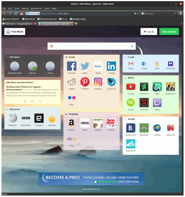 Pale Moon openSUSE Linux Installation Guide - UI