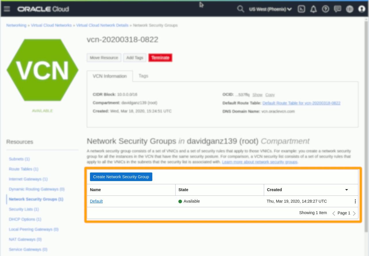 Oracle OCI Compute Ubuntu 18.04 Instance Open Port 443 - Security Ingress Rule