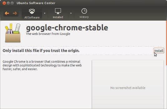 Install Google-Chrome on Ubuntu GNOME 16.04 by Ubuntu Software Center