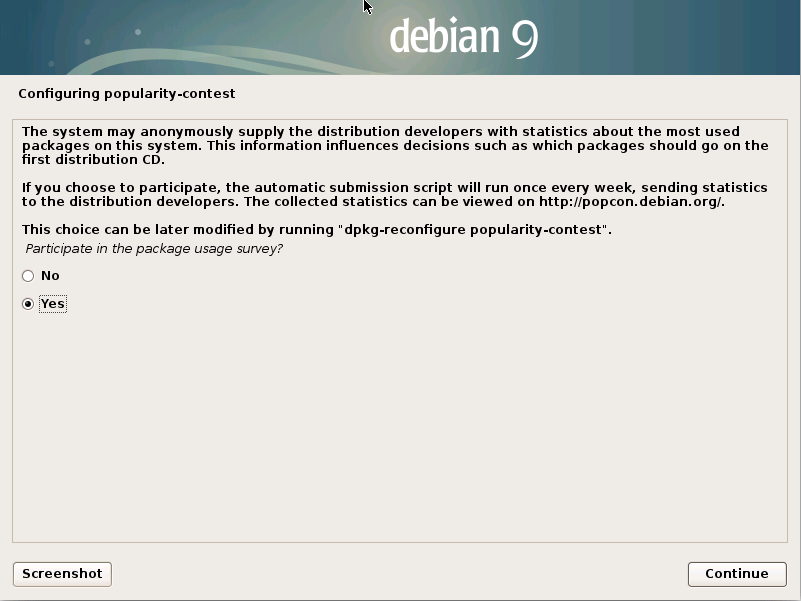How to Install Debian Stretch 9 Alongside Windows 8 - popularity contest