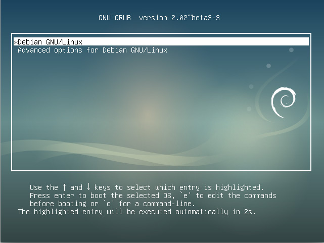 How to Install Debian Stretch 9 Alongside Windows 8 - grub splash