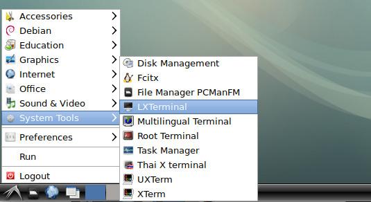 How to Open Terminal Debian Linux - LXDE Open Terminal