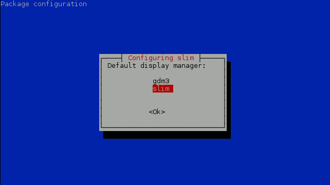 Debian Installing Slim Display Manager