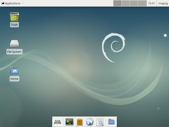 How to Switch from GNOME to Xfce Desktop on Debian 7 Jessie - Xfce Desktop