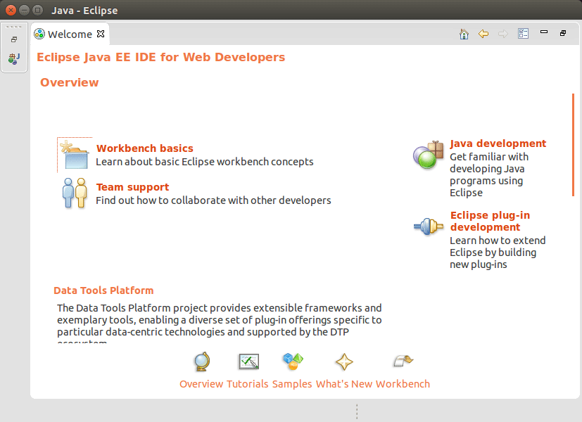 Install Eclipse 2020-09 R IDE for Java Developers Linux Mint 18.1 Serena - Eclipse 2020-09 R IDE Workbench GUI