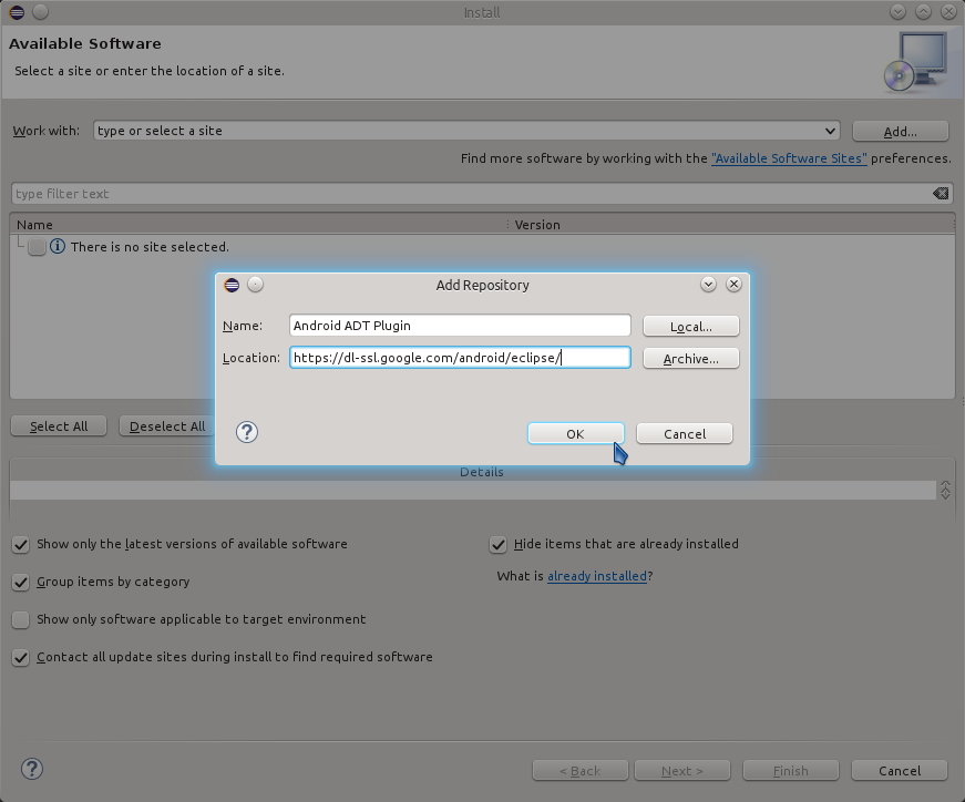 Eclipse 2020-09 R IDE Install Plugin - Eclipse Set New Software Repository URL