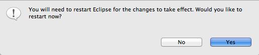 Enabling Eclipse Java 8 Support - Restarting Eclipse