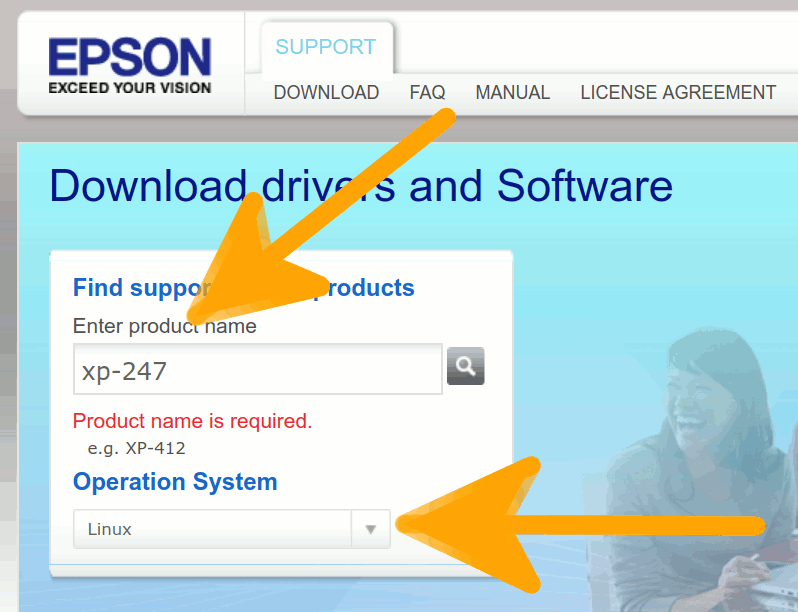 How to Download Epson Image Scan Driver & Software for Ubuntu 14.04 Trusty - Searching