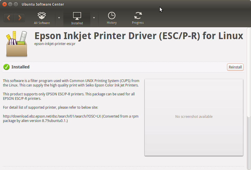 How to Install the Epson XP-610 Printer Drivers on Ubuntu 14.04 Trusty LTS - Ubuntu Software Center