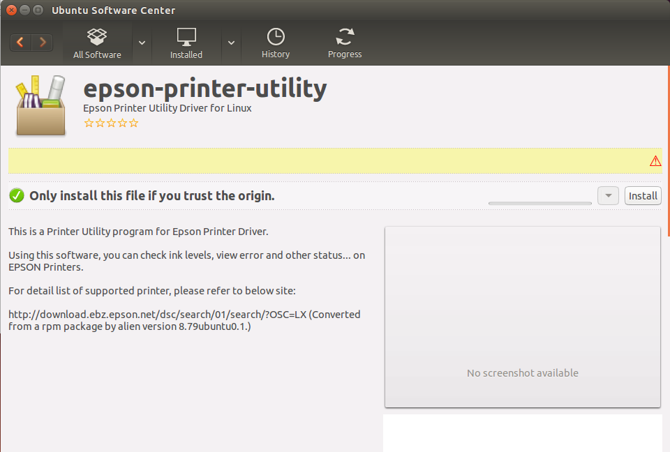 How to Install the Epson Stylus CX7300/CX7400 Series Printers Driver on Ubuntu 16.04 Xenial - Epson Printer Utility Ubuntu Software Center