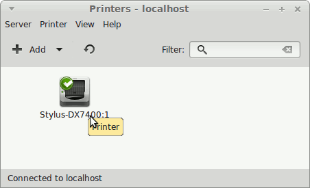 How to Install the Epson XP-950 All-in-One Printer Drivers on Linux Mint 17 Qiana LTS - Linux Mint Installed Printer