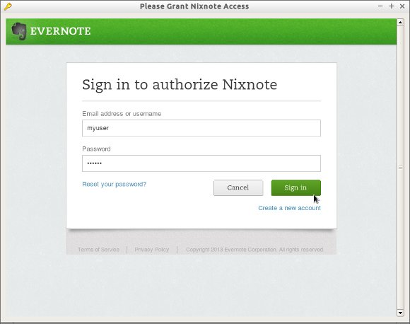 Getting-Started Evernote on Linux - Authorize