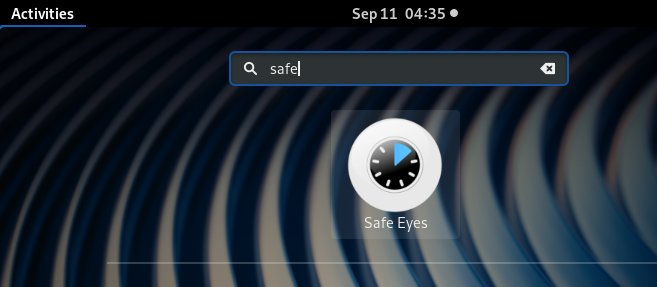 Safe Eyes KDE Neon Installation Guide - Launcher