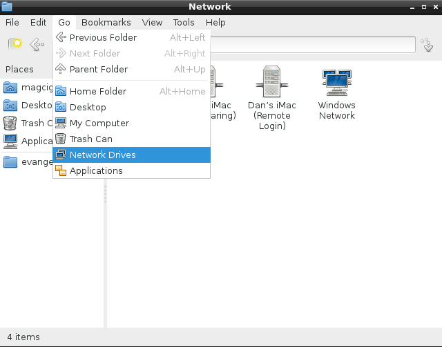 Lubuntu Mac OS X Easy File Sharing with afp - File Manager Network Drives