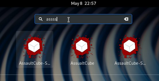 How to Install AssaultCube in Fedora 31 - Launcher