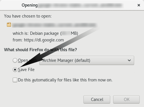 How to Install WordPress Desktop App Debian Stretch 9 - Firefox Prompt Save
