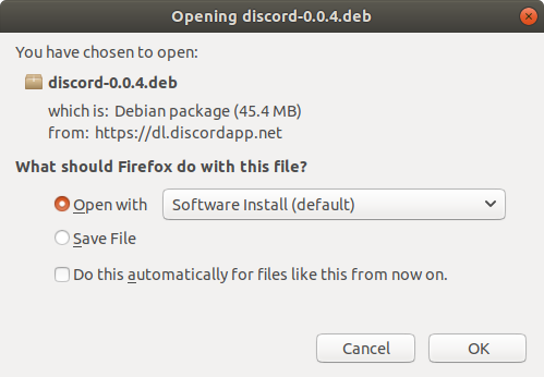 How to Install Discord Ubuntu 16.04 Xenial LTS - Open with Ubuntu Software Center