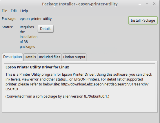 How to Install the Epson XP-700 Series Printers Driver on Linux Mint - Epson Printer Utility GDebi