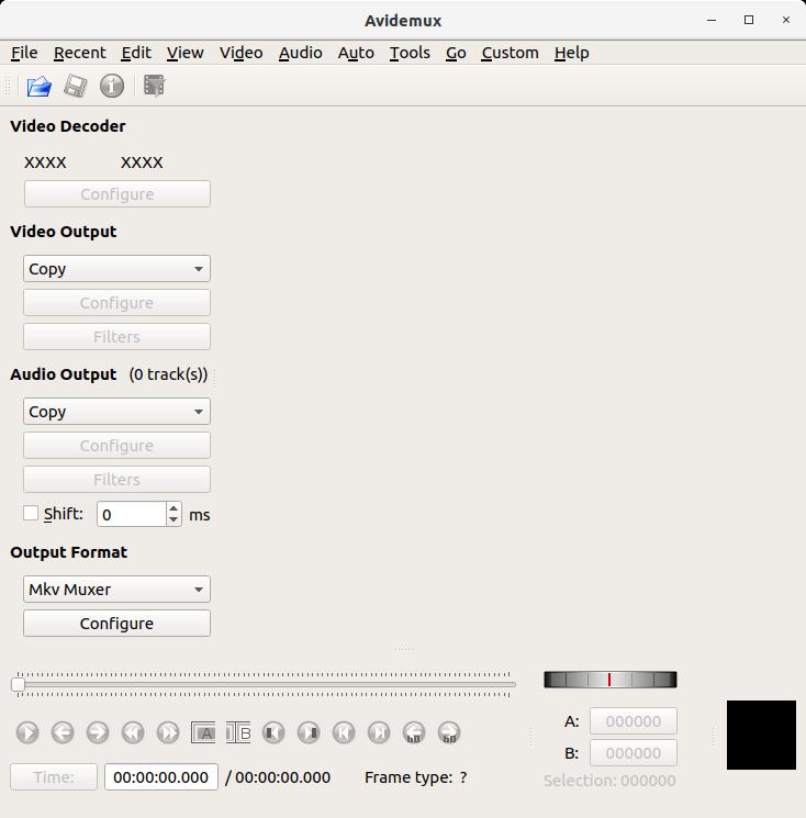 How to Install Avidemux in Fedora 29 - UI