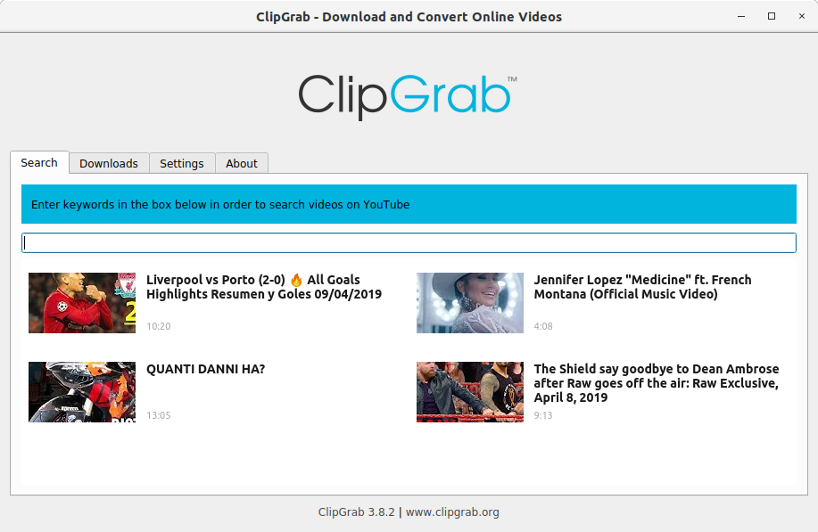 How to Install ClipGrab in CentOS - UI
