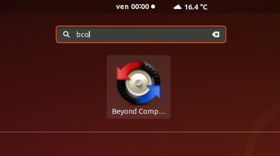 How to Install Beyond Compare in Fedora 32 - Launcher