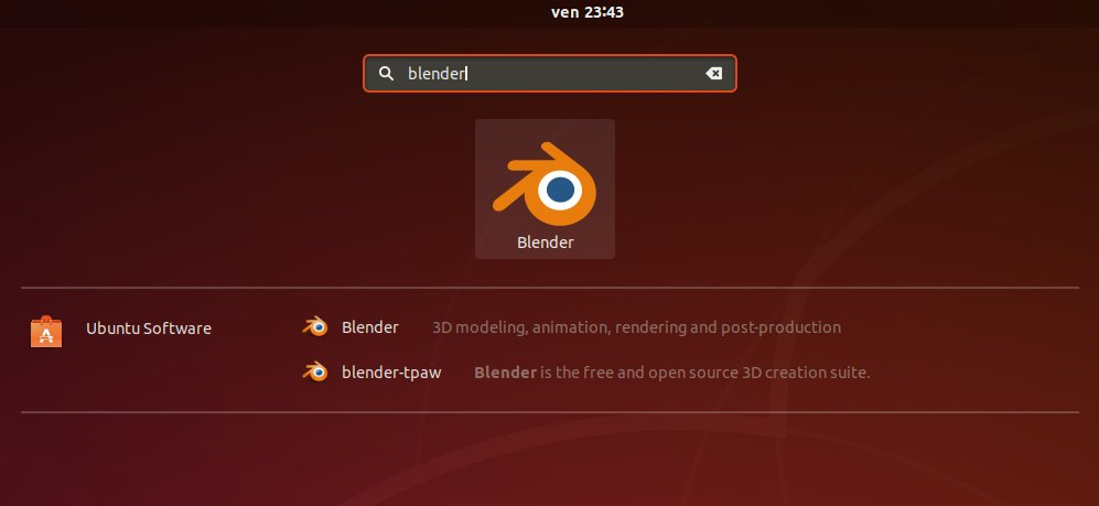 How to Install Latest Blender on Ubuntu 18.04 Bionic LTS - Launcher