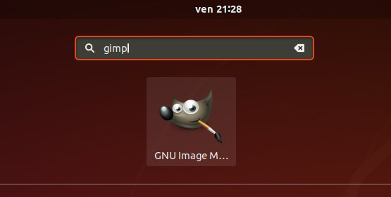 Step-by-step GIMP Snap Fedora 31 Installation Tutorial - Launcher
