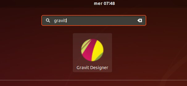How to Install Gravit Designer in Kali Linux - Launcher